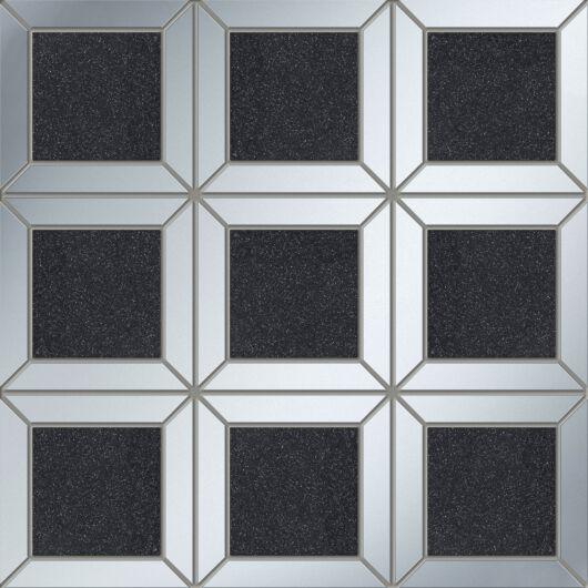 Tubadzin M-Lucid Square Black 29,8x29,8 cm mozaik csempe