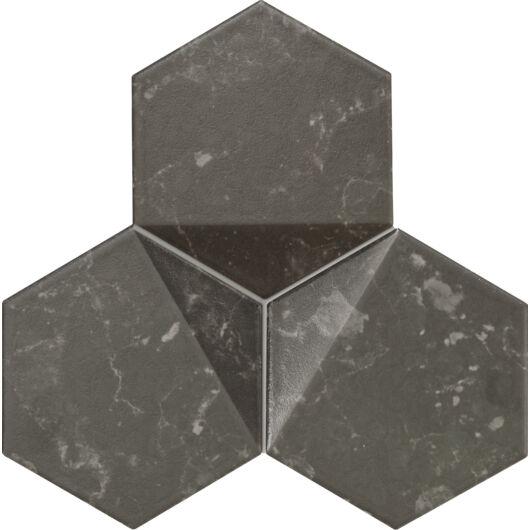 Tubadzin M-Scoria Black 16,5x19,2 cm mozaik csempe