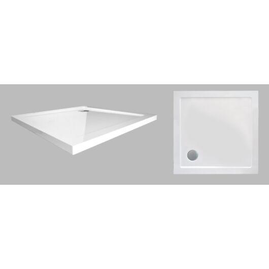 Wellis 90-es lapos szögletes zuhanytálca 90x90x4 cm