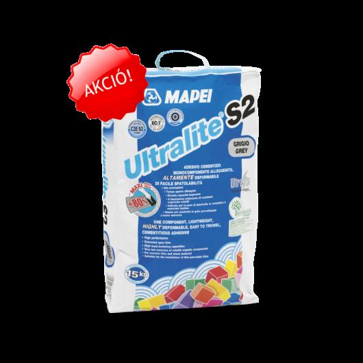 Mapei ULTRALITE S2 cementkötésű ragasztóhabarcs SZÜRKE 15 KG
