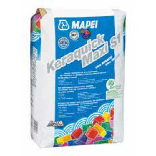 Mapei KERAQUICK Maxi S1 cementkötésű ragasztóhabarcs FEHÉR 23 KG