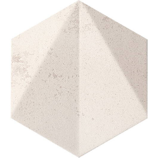 Tubadzin M-Free Space Hex White STR 11x12,5 cm csempe